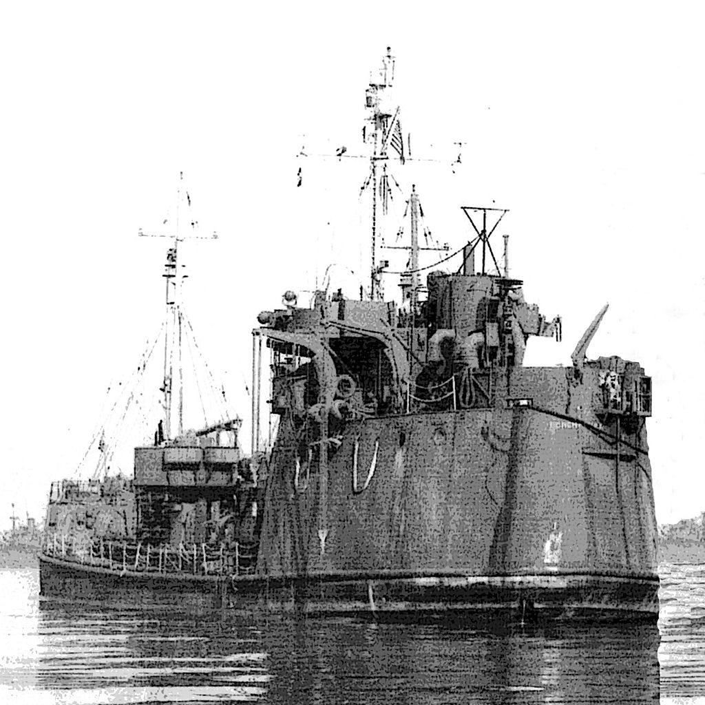 """Aspecto de la popa del buque USS """"Ponchatoula"""", uno de los gemelos del futuro """"Bruch"""""""