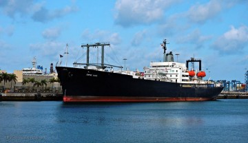 """El buque-escuela estadounidense """"Empire State"""", atracado en el puerto de Las Palmas de Gran Canaria"""