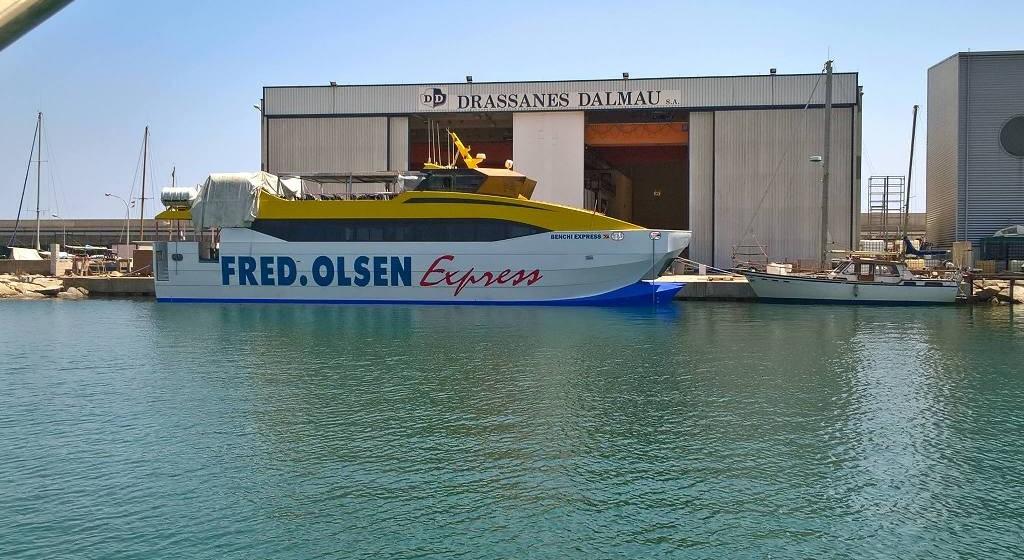 """Este es el aspecto exterior del buque """"Benchi Express"""""""