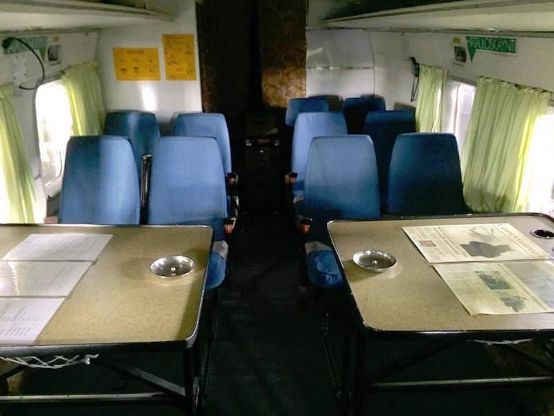 Interior de la cabina de pasaje