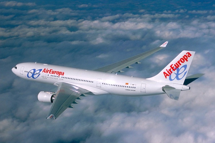 Avión Airbus A-330 de Air Europa, modelo con el que vuela a Venezuela