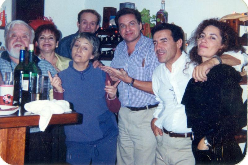 l Sauzal (1999). De izq. a dcha: José Francisco Martín, Nereida Pérez Torres, José Francisco Pérez, Elvira Quintana Torres, Jesús Hernández García, José Carlos Pérez Torres y Pilar Acosta Pérez
