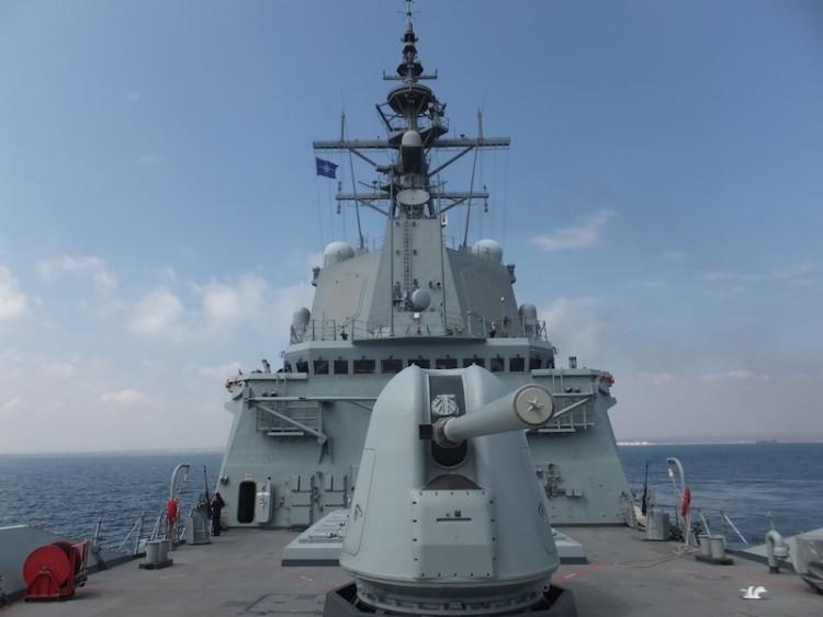 """La fragata """"Cristóbal Colón"""" (F-105) ha permanecido 214 días fuera de España"""