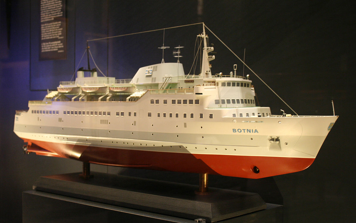 """Maqueta del buque """"Botnia"""" existente en la sede de Silja Lines"""