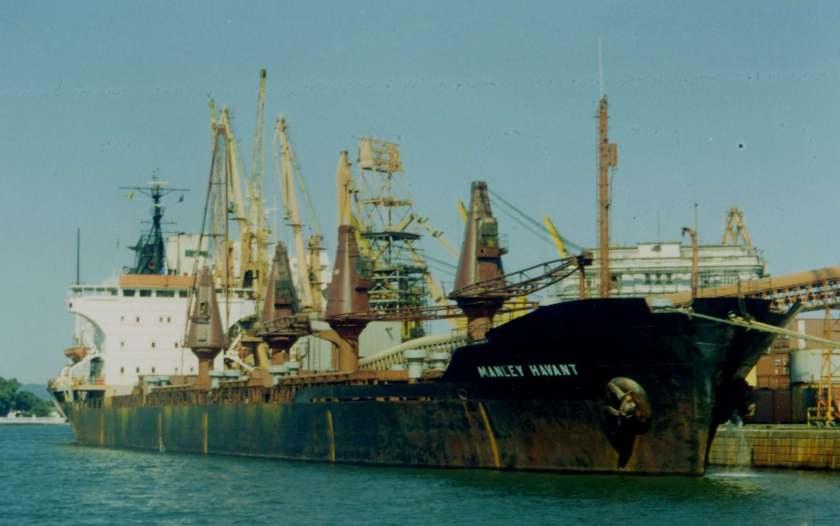 """Renombrado """"Manley Havant"""", en una escala en el puerto de Santos"""