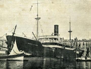 """El vapor """"Marqués de Campo"""", atracado en el puerto de Santa Cruz de Tenerife"""