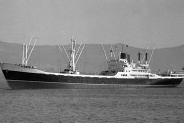 """Estampa marinera del buque """"Comillas"""", gemelo del """"Ruiseñada"""""""