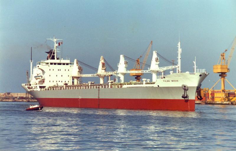 """El buque """"Palma Mocha"""", en aguas del puerto de Barcelona"""