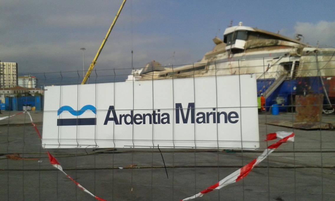 La empresa Ardentia Marine se ocupa de los trabajos de reflotamiento