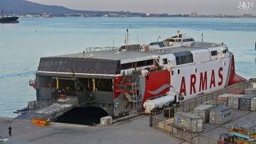 """El catamarán """"Alborán"""" ha abierto la línea Los Cristianos-Valle Gran Rey"""