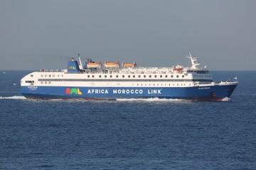 """El ferry """"Diágoras"""" realiza un viaje diario en la línea Almería-Nador"""