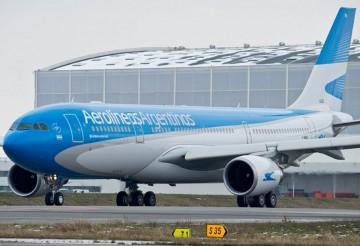 Aerolíneas Argentinas volaba a Venezuela con el avión Airbus A-330