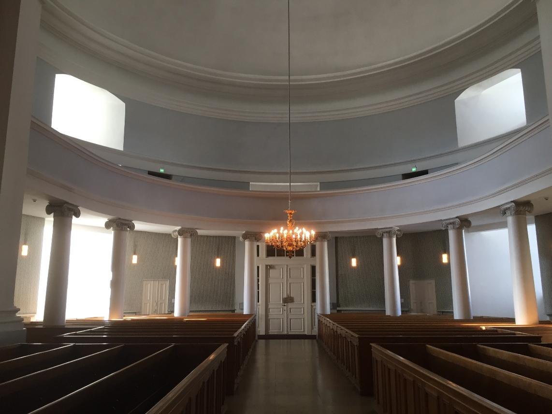 Catedral luterana de Helsinki, Brazo derecho de la planta simétrica
