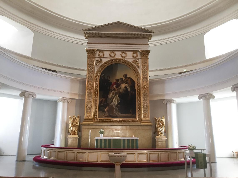 Catedral luterana de Helsinki. Altar mayor