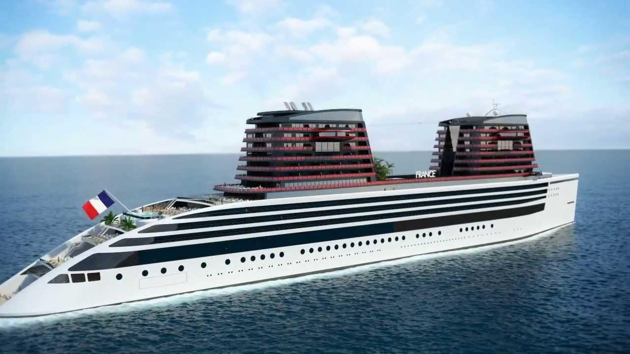 El buque tendrá capacidad para 800 pasajeros y destacan sus dos imponentes chimeneas
