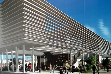 Aspecto externo de la futura terminal de Naviera Armas en el puerto de Las Palmas de Gran Canaria