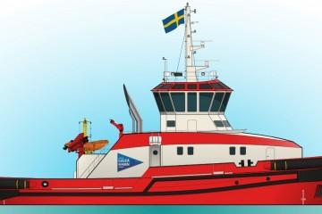 Este será el aspecto exterior del futuro remolcador para Suecia