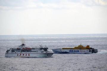 Dos navieras compiten en una misma línea supeditado a sus intereses en La Gomera