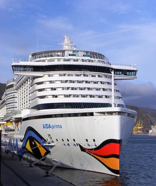 La decoración de la proa es similar a la de los otros buques de Aida Cruises