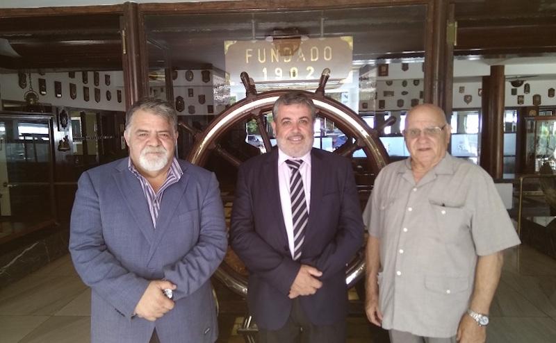 Antonio Padrón Santiago, José E. Marrero y José L. Domínguez, en su reciente encuentro