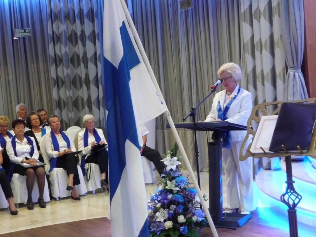 La profesora Helena Kuja-Kanto pronunció el discurso de orden