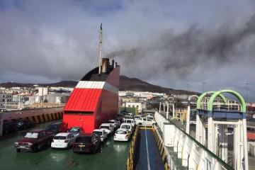 Las Palmas es el puerto que más crece en carga rodada en lo que va de año
