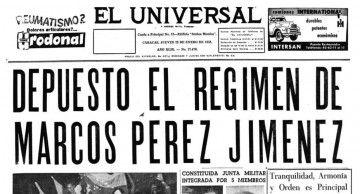 """Primera plana del periódico """"El Universal"""""""