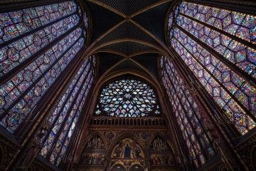 Vidrieras y rosetón de la Saint Chapelle