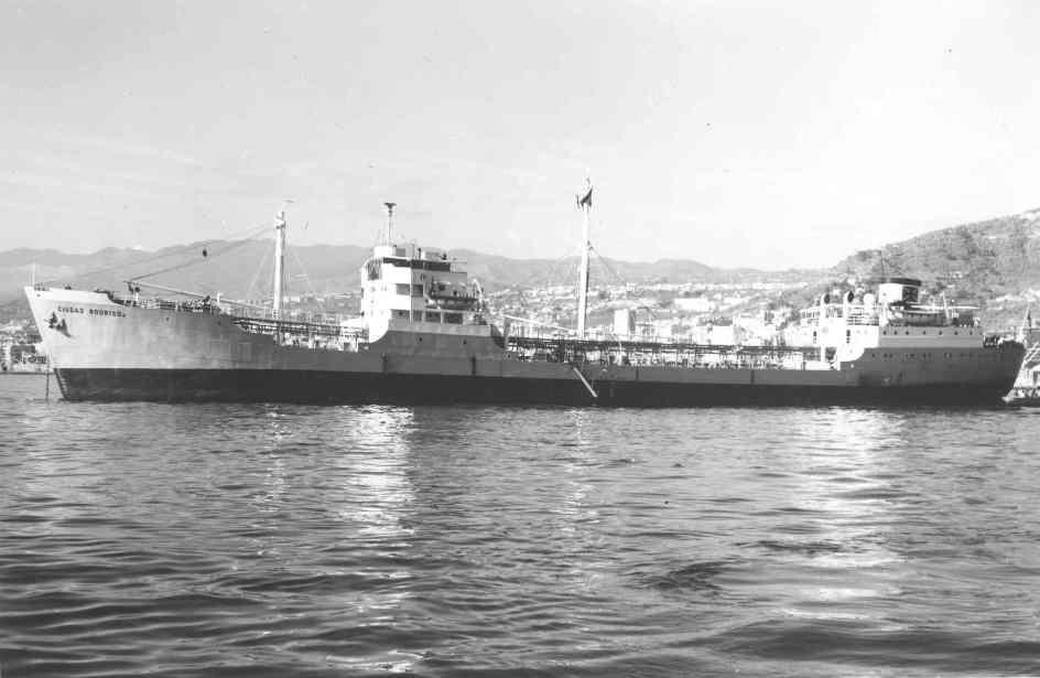 """El petrolero """"Ciudad Rodrigo"""", fondeado en aguas de Santa Cruz de Tenerife"""