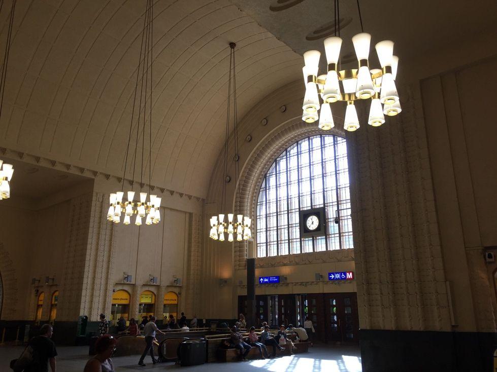 Hall de la Estación Central de Helsinki