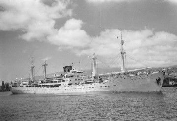 """El buque """"Monte Udala"""", en una de sus escalas en el puerto de Santa Cruz de Tenerife"""