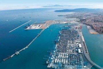 Panorámica del puerto de Algeciras
