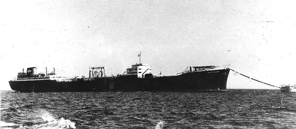 """El petrolero """"Bahía Gaditana"""", en su etapa en el pozo de Amposta"""