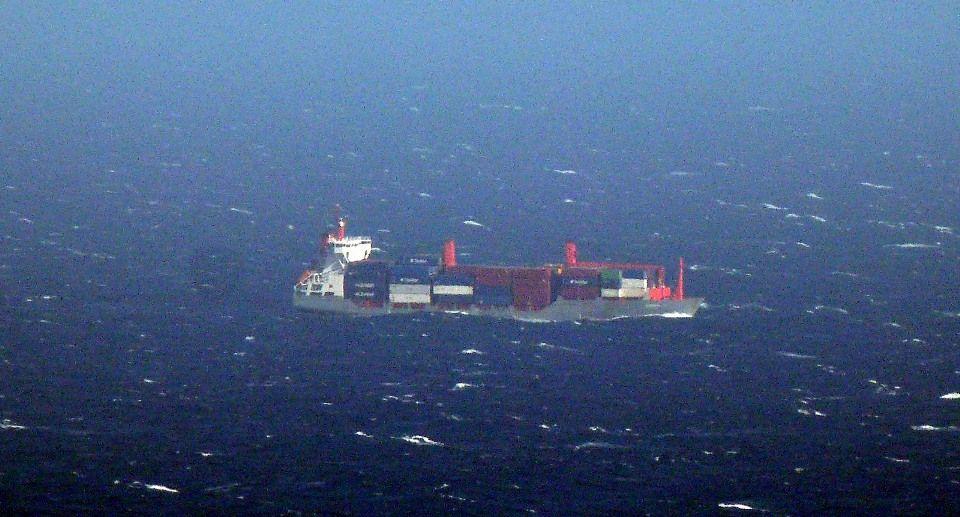 """El buque portacontenedores """"Spica"""", a la capa"""