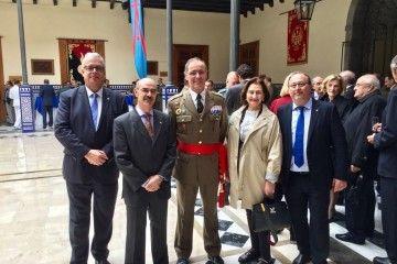 El nuevo jefe del Mando de Canarias, teniente general Carlos Palacios y los cónsules de Finlandia, Eslovaquia, Uruguay e Italia