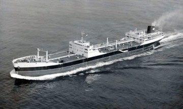 """El petrolero """"Bahía Gaditana"""",  en sus pruebas de mar"""