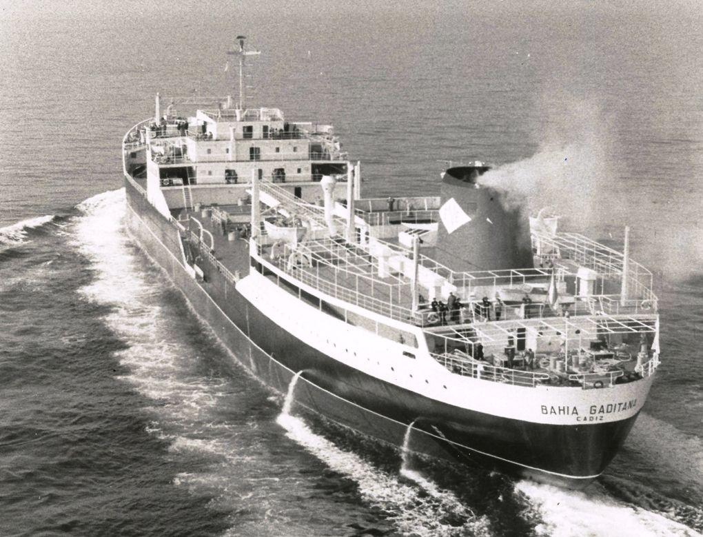 """En su día, el petrolero """"Bahía Gaditana"""" fue el mayor buque de la flota mercante española"""