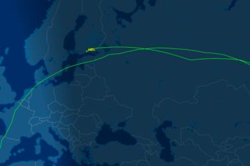 Esta es la ruta seguida por el avión de Iberia desviado a Helsinki