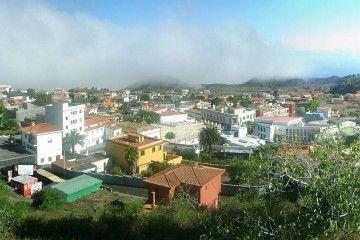 Panorámica del barrio de Los Canarios, núcleo principal del municipio de Fuencaliente de La Palma