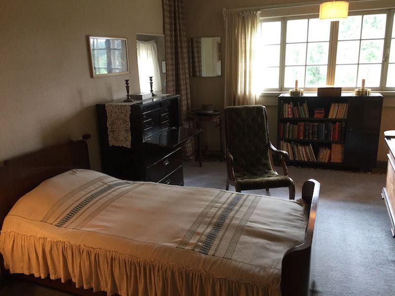 Uno de los dormitorios de Ainola