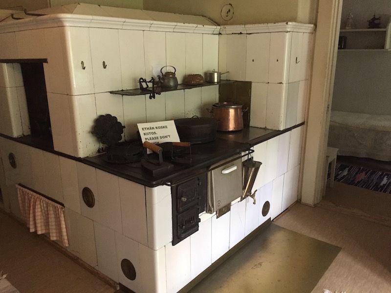 Detalle de la cocina de Ainola