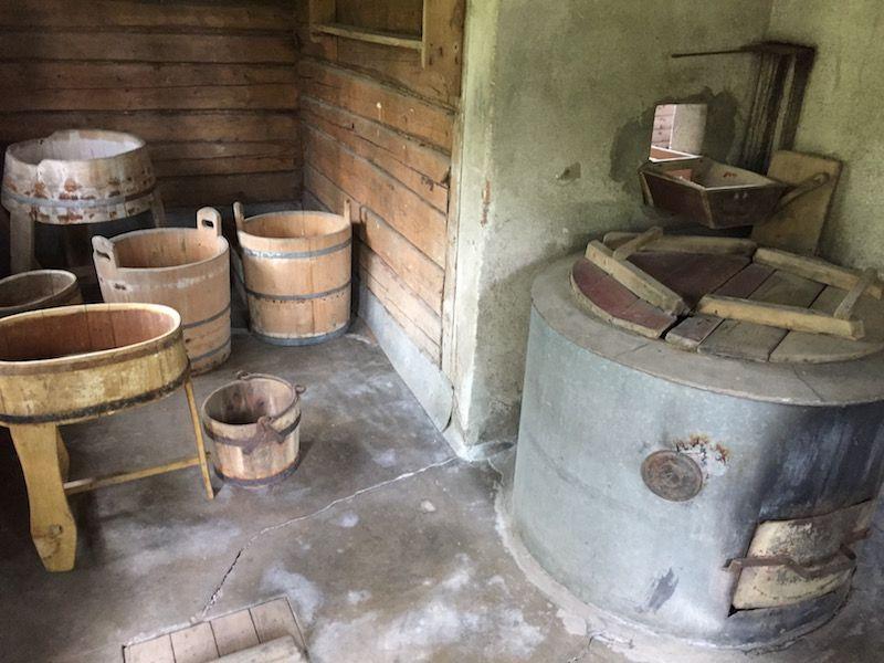 Interior de la sauna que diseñó Aino Sibelius