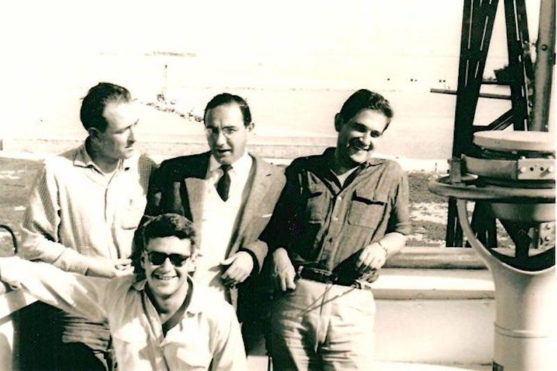 """A bordo del petrolero """"Astorga"""", en una reparación en el puerto de Cádiz"""