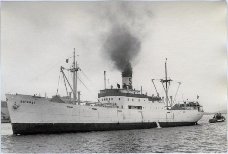 """El buque sueco """"Bifrost"""", en el que Antonio Rodríguez navegó de tercer oficial"""
