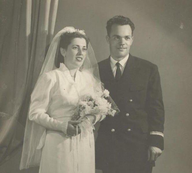 Carmelo Juan y Marina María, el día de su boda