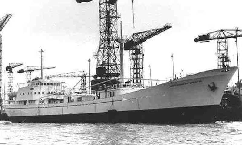 """""""Mediterranean Sprinter"""", uno de los barcos que mandó el capitán Ojeda"""
