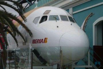 Exterior de la cabina del DC-9 expuesto en el Museo Elder de Las Palmas de Gran Canaria