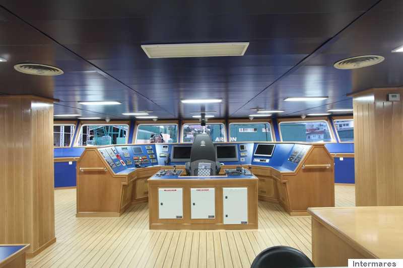 """Puente de mando del buque """"Intermares"""""""