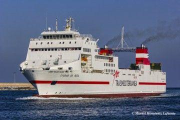 """El buque """"Ciudad de Ibiza"""" pasa a enarbolar bandera española"""