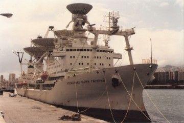 """El buque """"Kosmonaut Yuriy Gagarin"""", en su última escala en el puerto de Santa Cruz de Tenerife"""